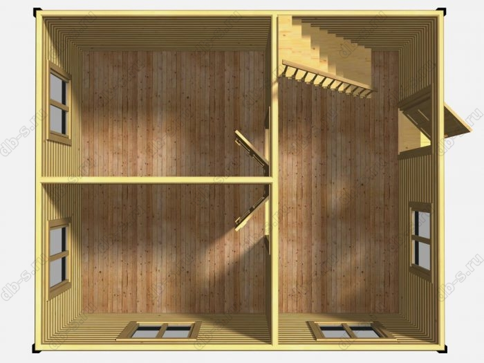 Проект дачного дома 6 на 5