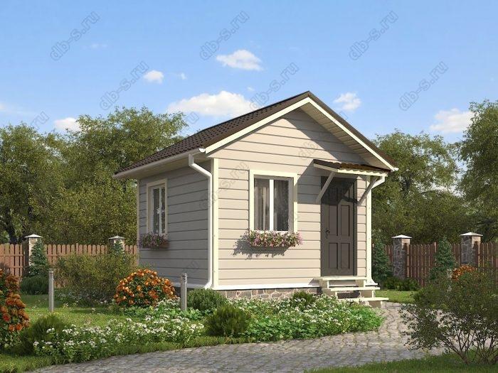 Одноэтажный проект 4 на 4 каркасный дом под ключ двухскатная крыша