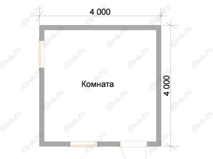 Планировка одноэтажного дома 4 на 4