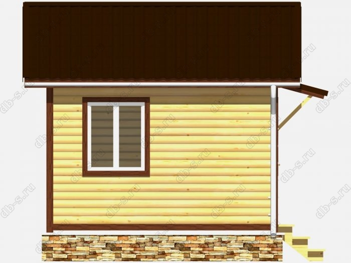 Проект дачного дома 4 на 4