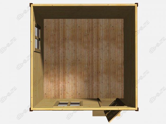 Одноэтажный деревянный дом под ключ 4 на 4
