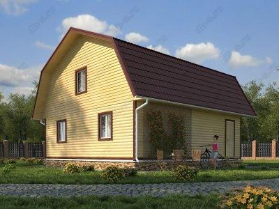 Дом из бруса 9х9 проект Д39