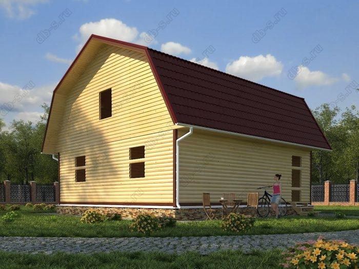 Проект с мансардой 9 на 9 сруб под усадку ломаная крыша вальмовая крыша