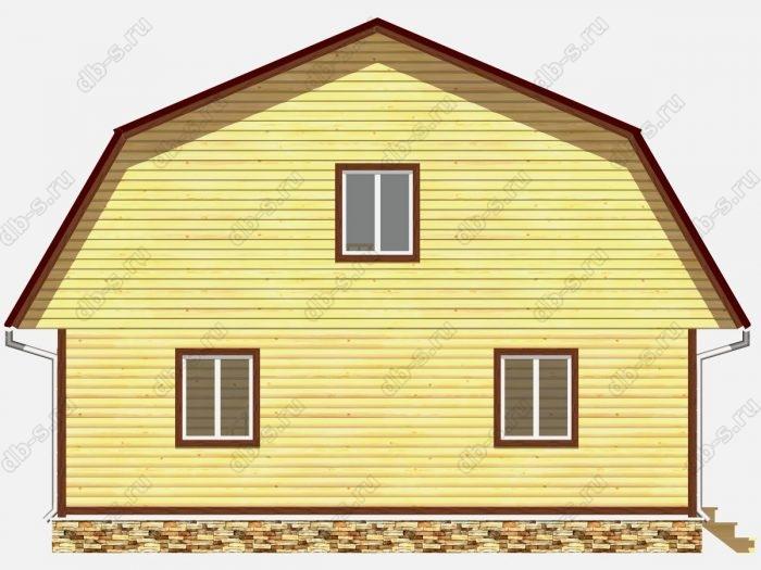 Фото деревянного дома из профилированного бруса под ключ 9 на 9