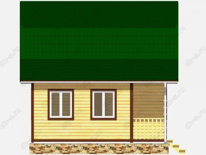 Строительство домов под ключ 8х6 из профилированного бруса