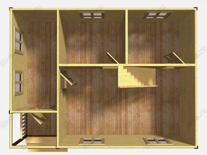 Проект дачного дома 8 на 6
