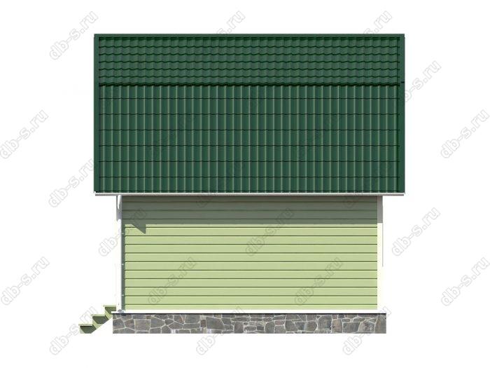 Каркасный дом 8х6 терраса (веранда) ломаная крыша вальмовая крыша