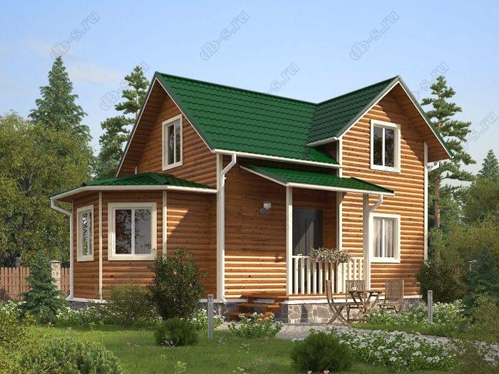 Двухэтажный проект 9 на 9.5 каркасный дом под ключ двухскатная крыша санузел (туалет)