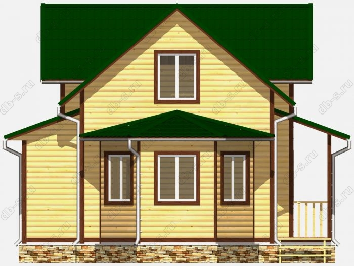 Фото деревянного дома из профилированного бруса под ключ 9 на 9.5