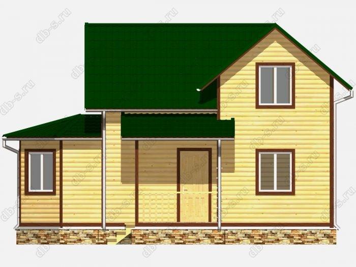 Дом из бруса 9х9.5 двухскатная крыша