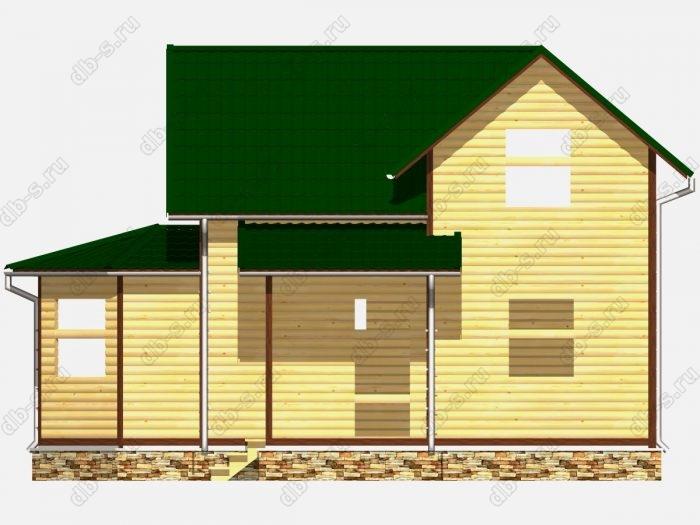 Сруб дома 9х9.5 двухскатная крыша
