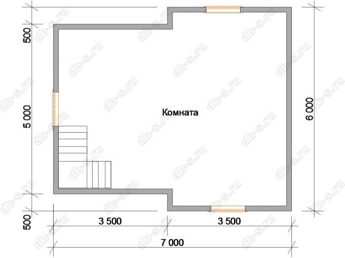 Планировка второго этажа дома 9 на 9.5