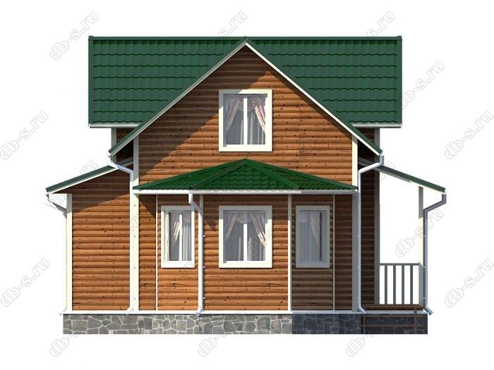 Каркасный дом 9х9.5 двухскатная крыша