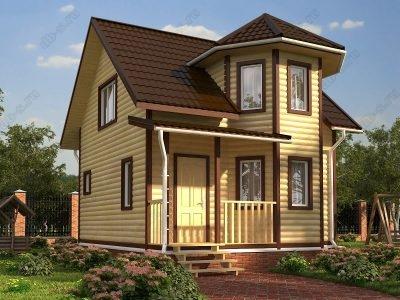 Дом из бруса 6х7 проект Д41