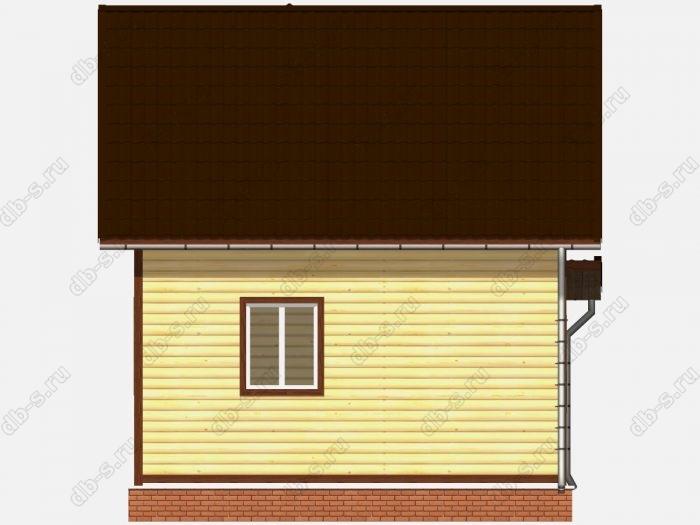 Проект дома из бруса площадью 67кв.м.