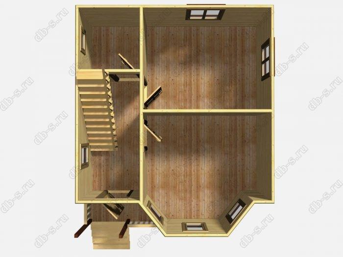 Проект дома для постоянного проживания 6 на 7