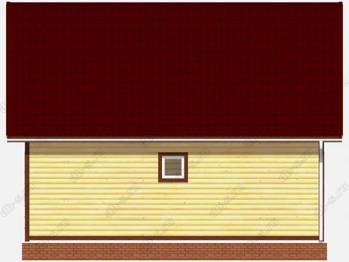 Проект дома из бруса площадью 73.63кв.м.