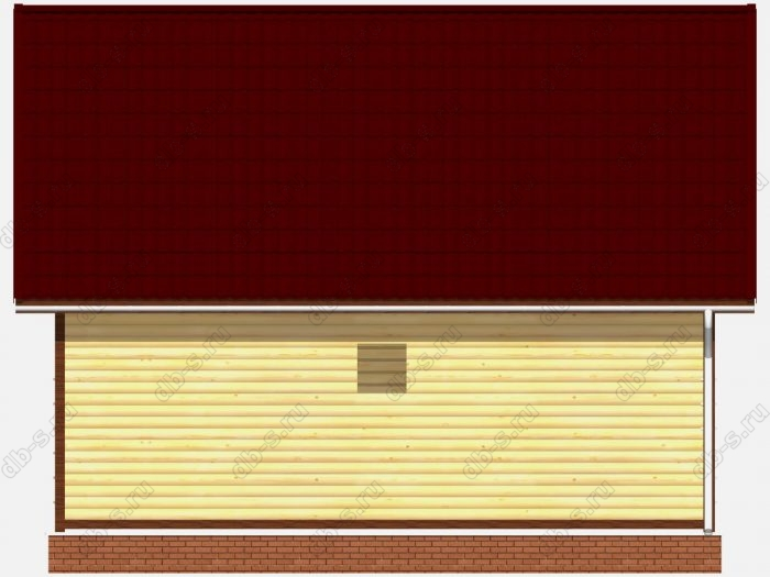 Проект сруба дома площадью 73.63кв.м.
