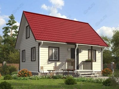 Каркасный дом 6х8 проект К42