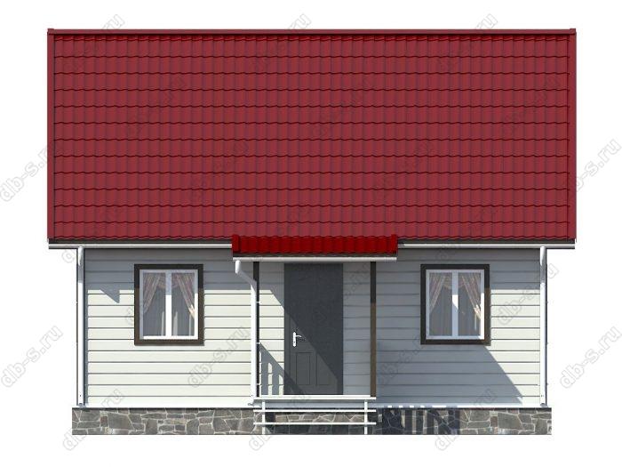 Каркасный дом 6х8 двухскатная крыша