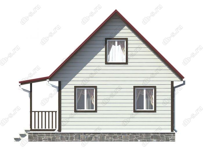 Проект каркасного дома площадью 73.63кв.м.