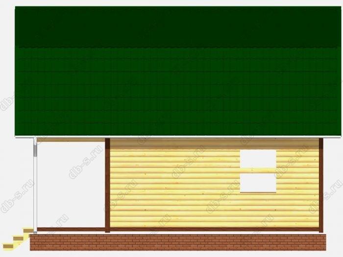 Сруб дома 6х8 терраса (веранда) ломаная крыша вальмовая крыша