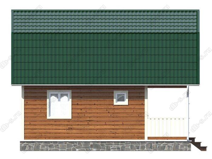 Каркасный дом 6х8 терраса (веранда) ломаная крыша вальмовая крыша