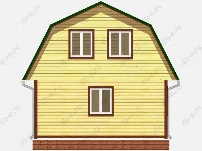 Проект дома из бруса площадью 72кв.м.