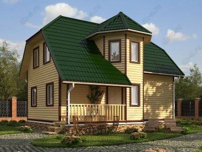 Дом из бруса 8х9 проект Д44