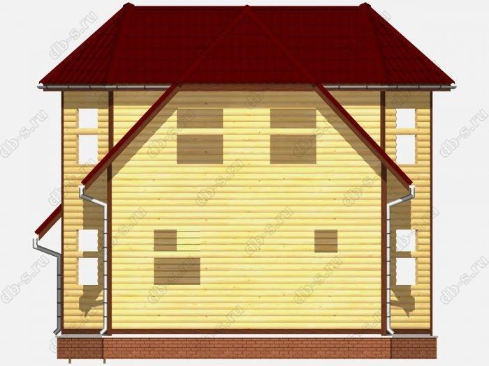 Сруб дома 8х9 терраса (веранда) двухскатная крыша