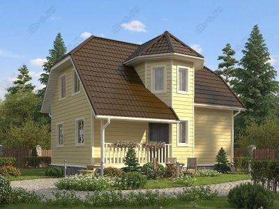 Каркасный дом 8х9 проект К44