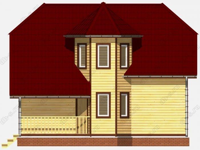 Фото деревянного дома из профилированного бруса под ключ 8 на 9