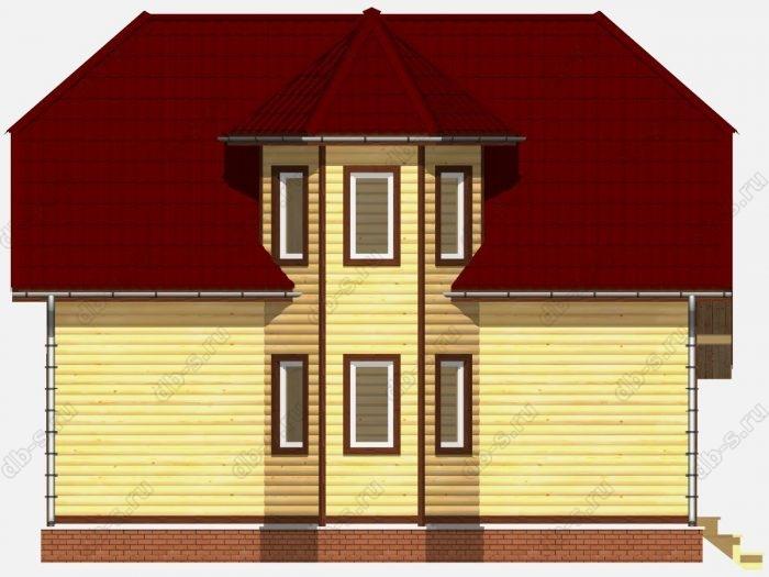 Проект дома из бруса площадью 107кв.м.