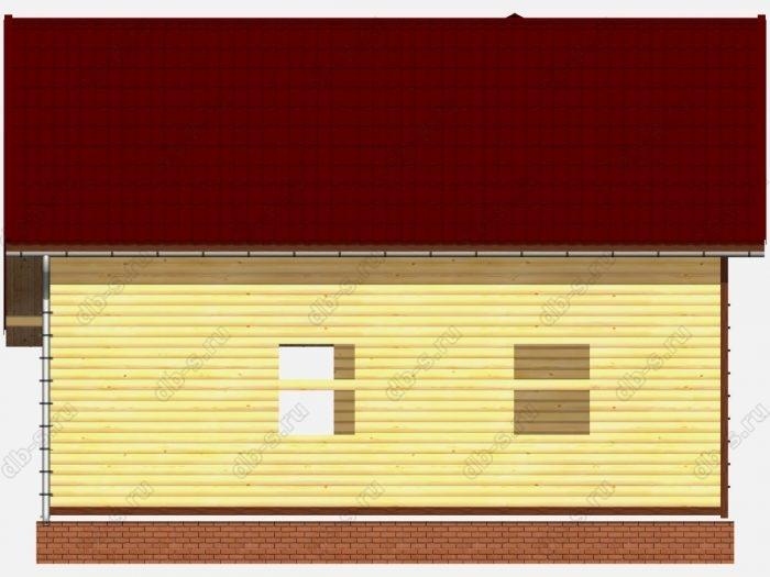 Проект сруба дома площадью 108.68кв.м.