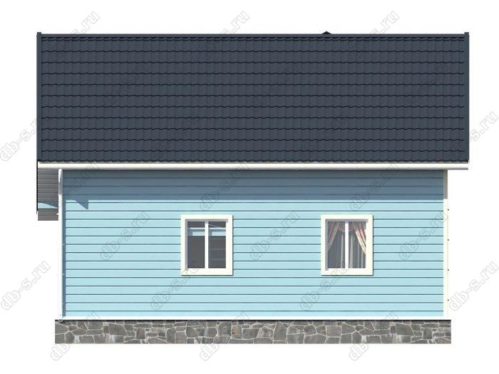 Проект каркасного дома площадью 108.68кв.м.