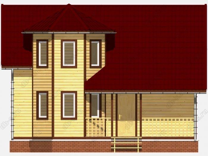 Фото деревянного дома из профилированного бруса под ключ 7.5 на 9