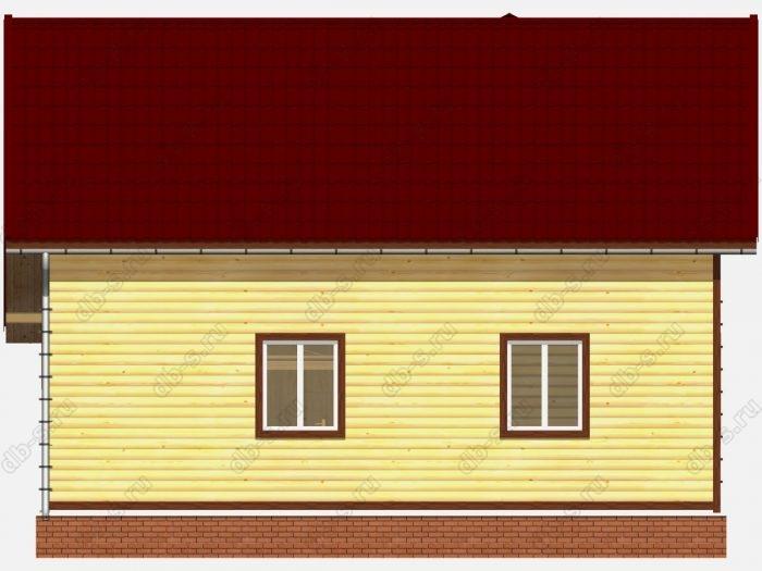 Проект дома из бруса площадью 108.68кв.м.