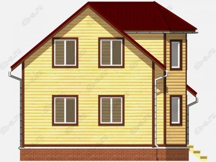 Строительство домов под ключ 7.5х9 из профилированного бруса