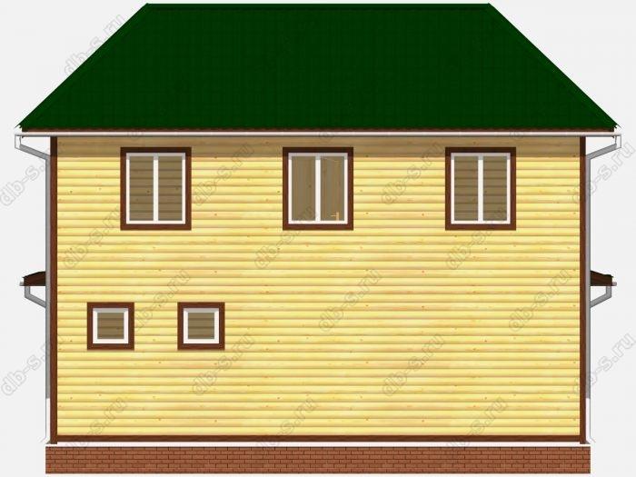 Проект дома из бруса площадью 107.97кв.м.