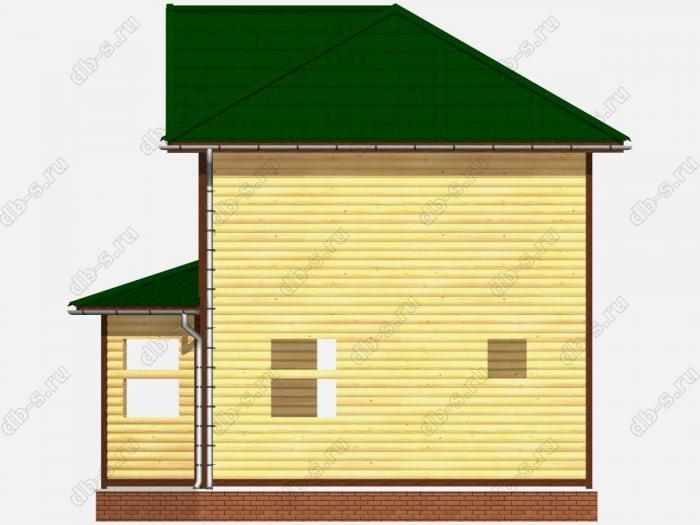 Сруб дома 7х9 балкон