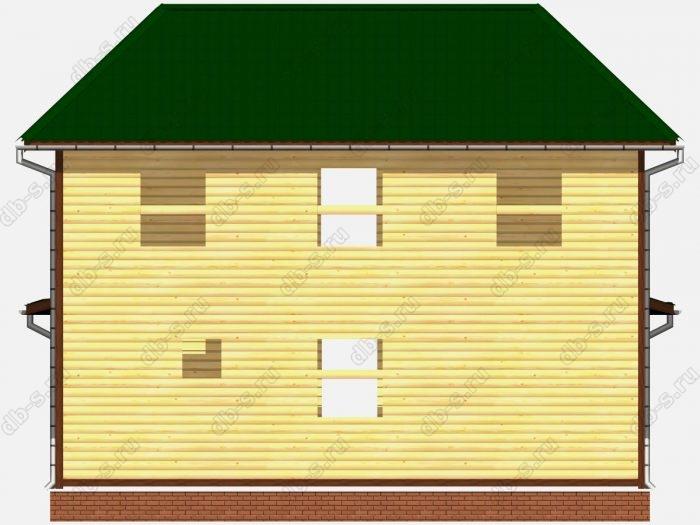 Проект сруба дома площадью 107.97кв.м.