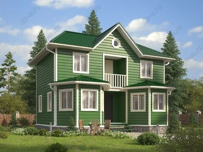 Каркасный дом 7х9 проект К46