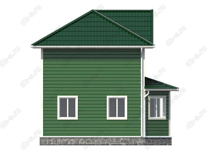 Каркасный дом 7х9 балкон