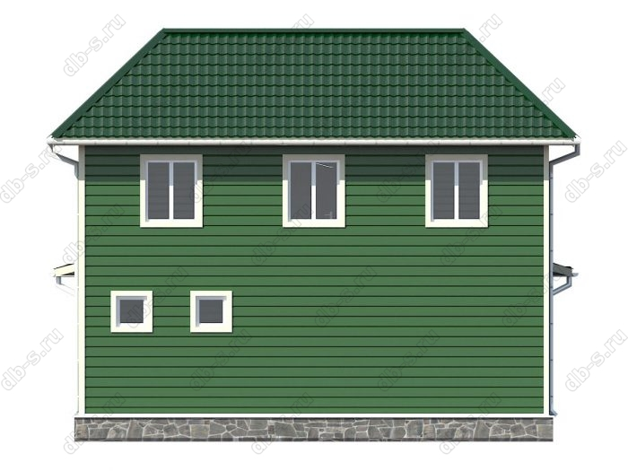 Проект каркасного дома площадью 107.97кв.м.