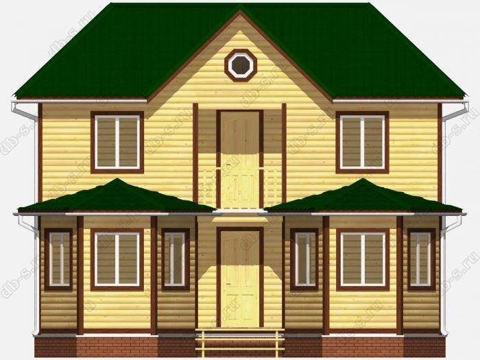 Фото деревянного дома из профилированного бруса под ключ 7 на 9
