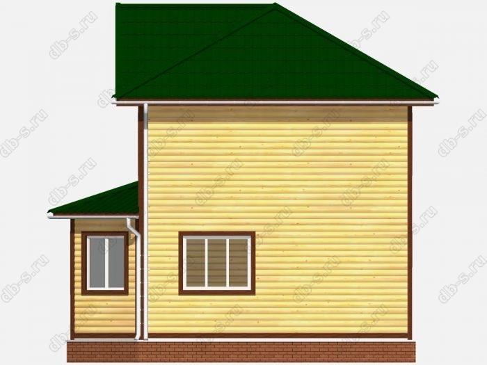 Дом из бруса 7х9 балкон