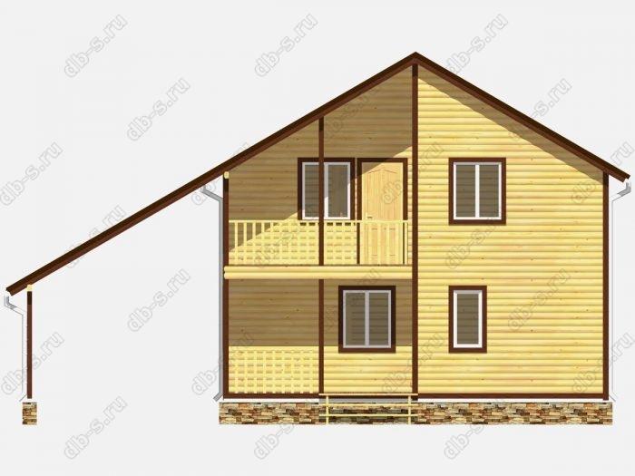 Фото деревянного дома из профилированного бруса под ключ 8 на 8