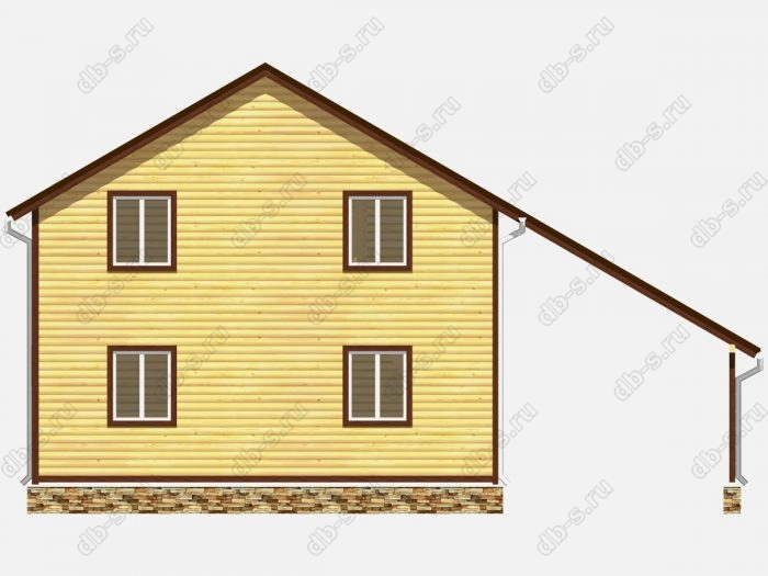 Проект дома из бруса площадью 112кв.м.