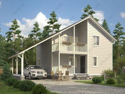 Каркасный дом 8х8 проект К47
