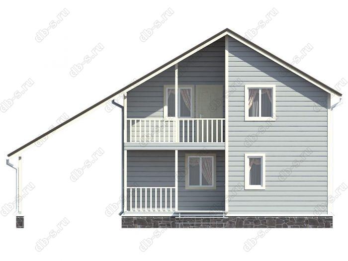 Фото каркасного дома под ключ 8 на 8